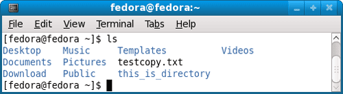 List files inside directory with ls command