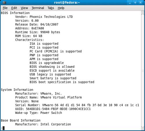 Get DMI SMBIOS infoemation