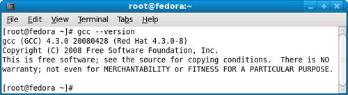 verify gcc installation on Linux box