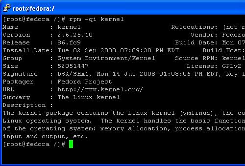 Find and Display Kernel Information Installed on Linux Fedora