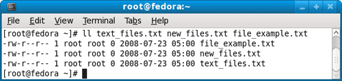 long list files properties