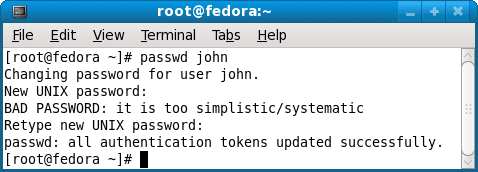 Create user password on Linux using passwd command