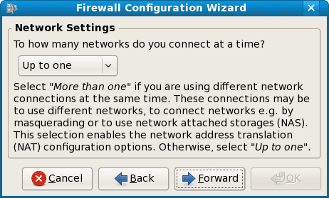 firewall network setting