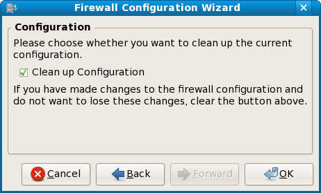 clear firewall configuration