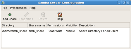 samba server share directory