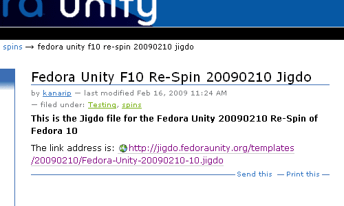 Download Fedora Unity Fedora 10 Re Spin jigdo file