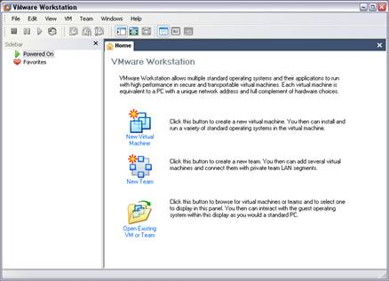 VMware Workstation Window